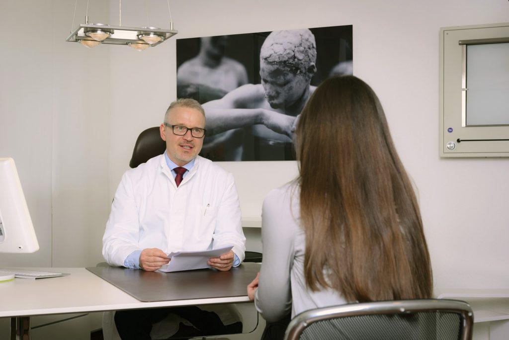 Praxisimpressionen – Patientengespräch